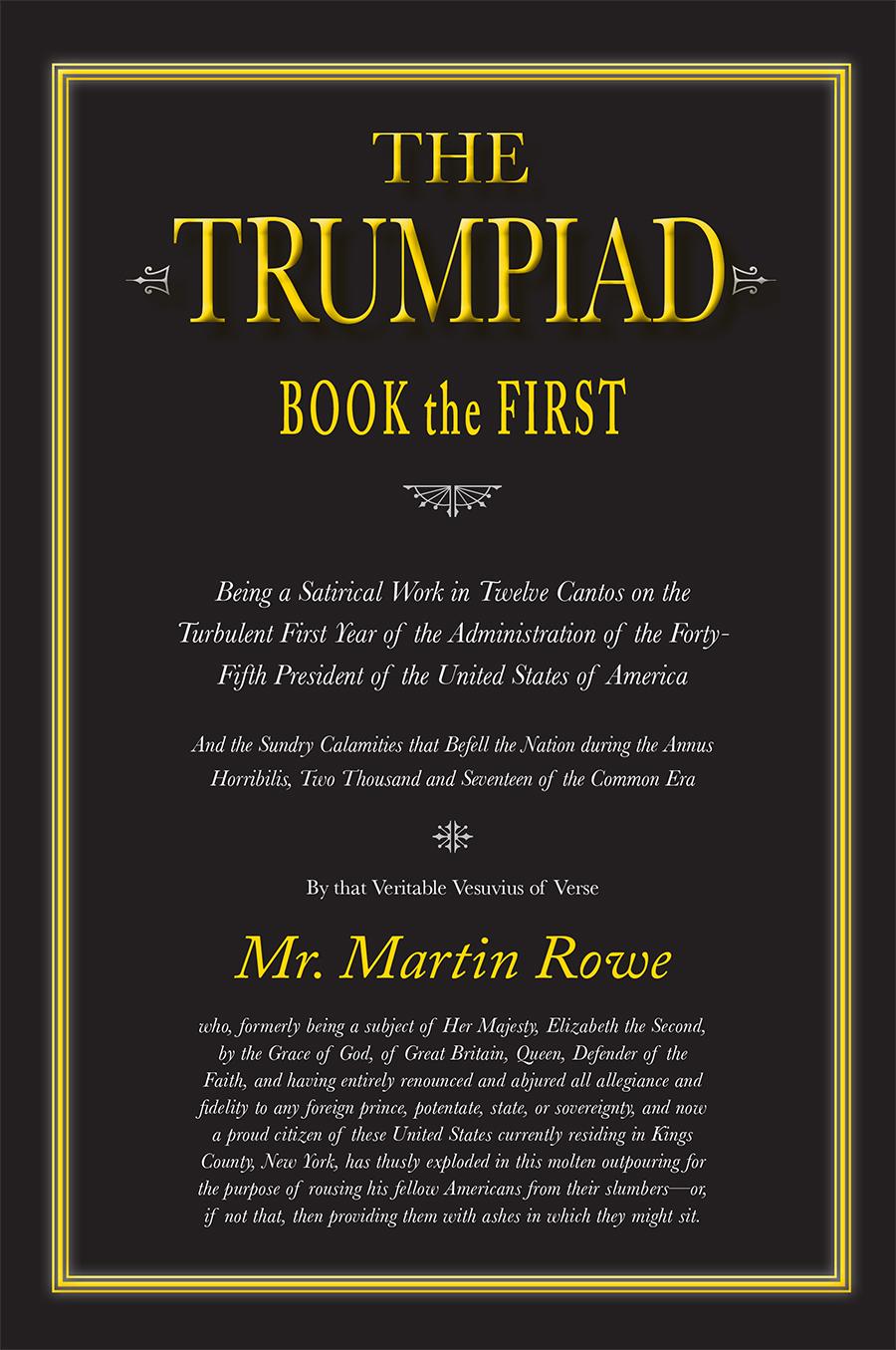 The Trumpiad Book First Martin Rowe Flasher Flaser Sen 12 Volt Universal